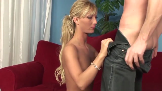 Stunning Young Blonde Is Really Into It