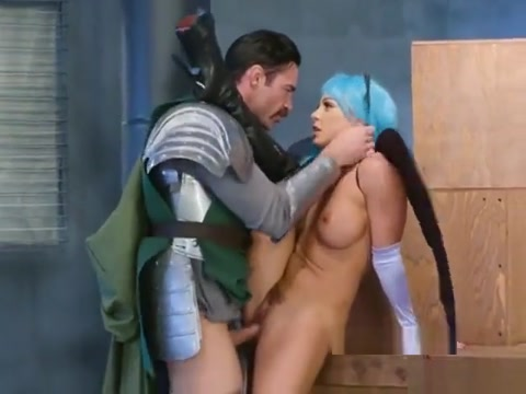 Luscious Nymph Abigail Mac Gets Humped By A Knight Fat Granny Uses Double Dong