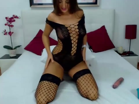 Gorgeous Curvy Sexy Beauty in Fishnet Lingerie Pounds Pussy w/Fingers & Toy young naked girls oral sex