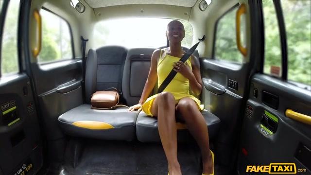 Ebony Beauty Empties Cabbies Balls - FakeTaxi