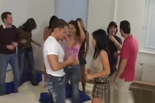 Group Of Charming Babes Get Nailed By Men Before Every Other