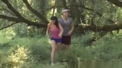 Young Anal Tryouts - Two arent playing hide and seek in the woods