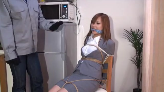 Two Japanese chics bound and gagged Seachmia Ebony