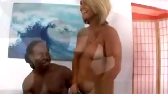Blonde Lucy Milking A Black Cock