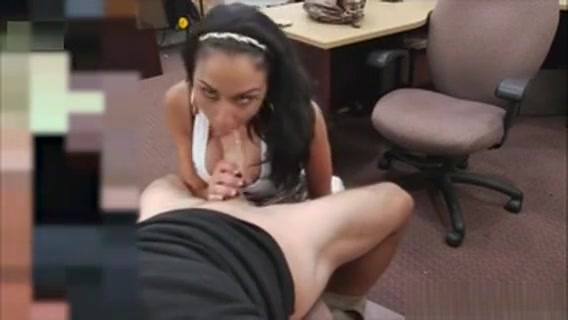 Busty Latina Screwed By Pervert Pawn Guy In His Office Big tits lesbian porn video