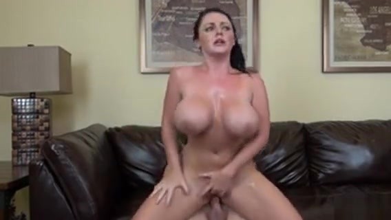 Sophie Dees Huge Boobs Jiggle And Dance As She Wildly Rides A Stick