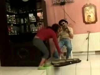 Horny Brunette Babe Sucks Off A Nasty Old Handicap free sex film clip