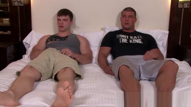 Two adventurous army hunks Ivan James and Brad Banks breed Christys comfort dildo