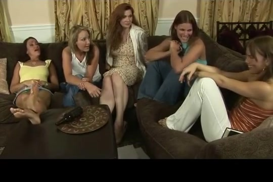 Lesbian Party Turns into Foot Fuck Orgasm