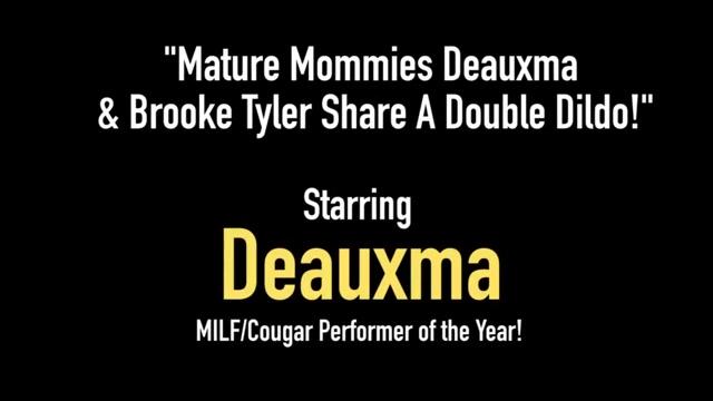 Mature Mommies Deauxma & Brooke Tyler Share A Double Dildo! hairy gross girl porn girls women videos