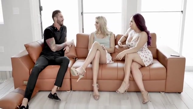 FamilyStrokes - Hot Stepsister Chanel Grey Fucks Stepbro Shemale tranny clothes thongs