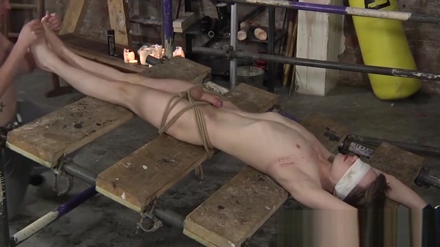 Bound twink slave gives his master an unwilling feet fuck www sanny leoan com