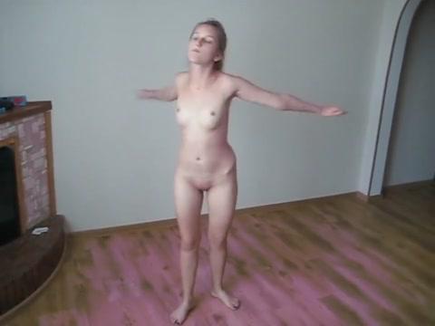petty bitch doing sexy fitness