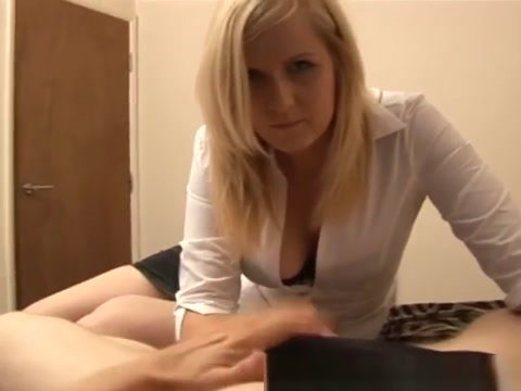 Blond Lucy gives a harsh handjob Torture anal