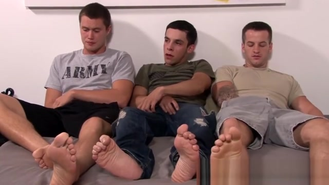 Freaky homosexual soldiers have an ass banging threesome A Threeway With Mya Mays And Her Stepmum