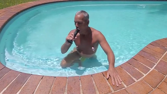 Pool dildo Natural tits fucking hd video compilation