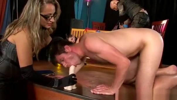Chap Tied Up And His Ass Fucked With A Toy By His Domina