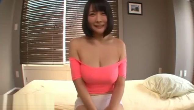 Japanese Pov Porn big tits in white bra