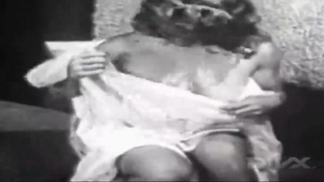 Classic Busty 50s Model Virginia Bell Black mature stockings and garter belt