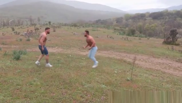 Inked hunks having anal fun on a hitchhiking trip in nature Emo boys fucking around