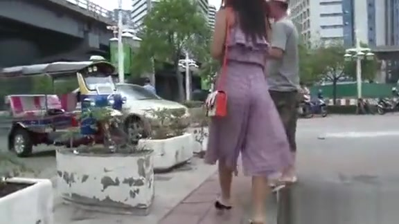 Active Oriental Chick Gives A Stranger An Blowjob