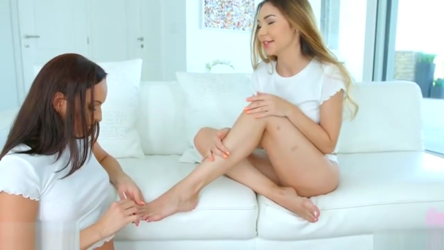Stacy Snake and Lana Bell in Lesbian tryout lesbian scene by women having sex with demons