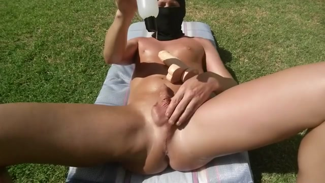 Fucking myself outside with LOTS of lube until I cum Submitted Amateur Porn Videos