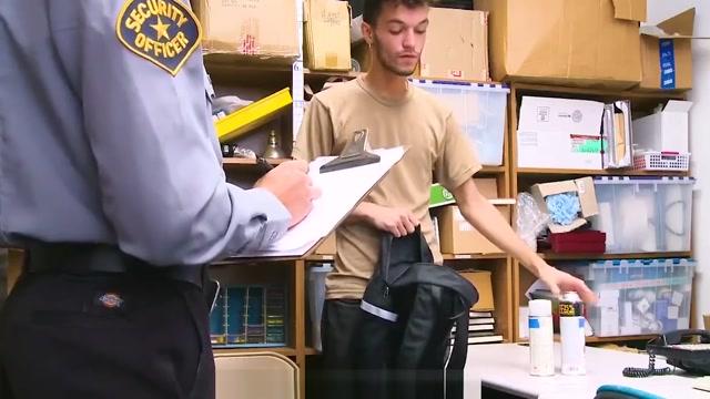 Security Guard Shoves His Cock In Public Masturbators Mouth Hanjob Taboo