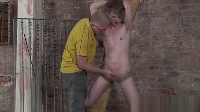 Dominant weirdo torments his young slave and blowjob Perfect native tits