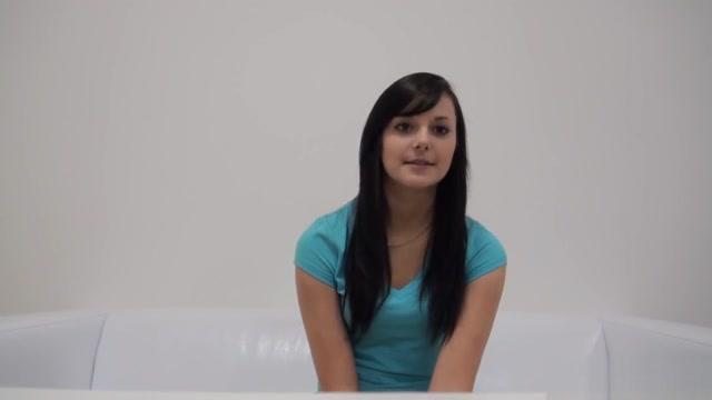 Nude casting for super cute brunette Renata