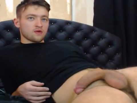 Handsome Hottie Masturbating On Cam Flaxseed rubbed on penis