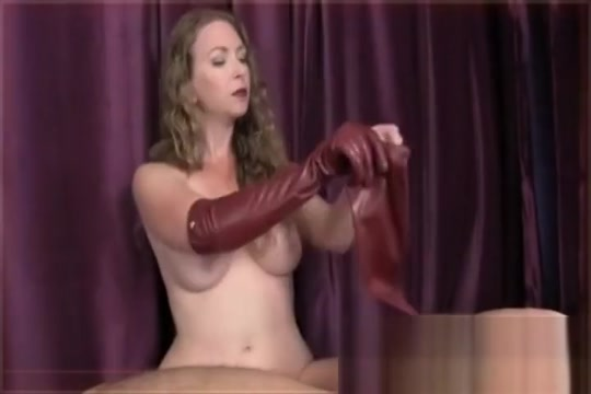 handjob Leather Gloves Joi mistress T Stretched cunt pics