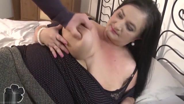 Mom with super big saggy tits fucks son