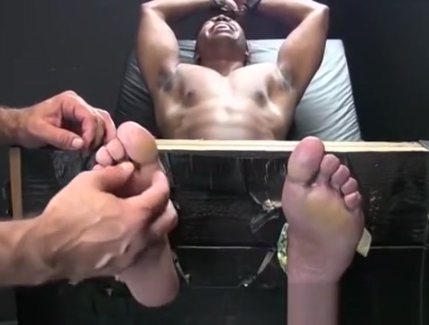 Hot chocolate stud gets his feet and cock feather tickled hurts when i pee after sex