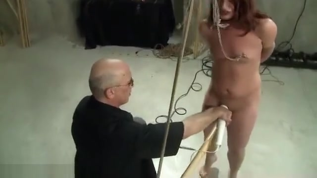 Dungeon BDSM Sex Master Ties Pretty Sub To Bamboo And Torments Her Pussy Best app for meeting people