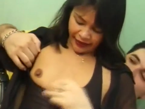 Asian amateur enjoying her first anal mass nude in public