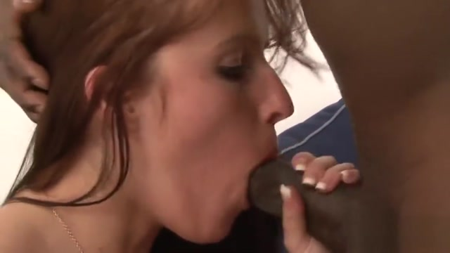Black Guy Fills Redhead Babe Morgan Blanchette with His Seed