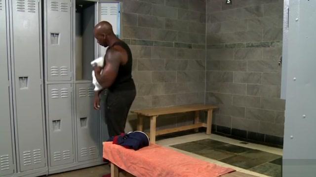 Interracial locker room gay sex - BAREBACK xx gay hard cock