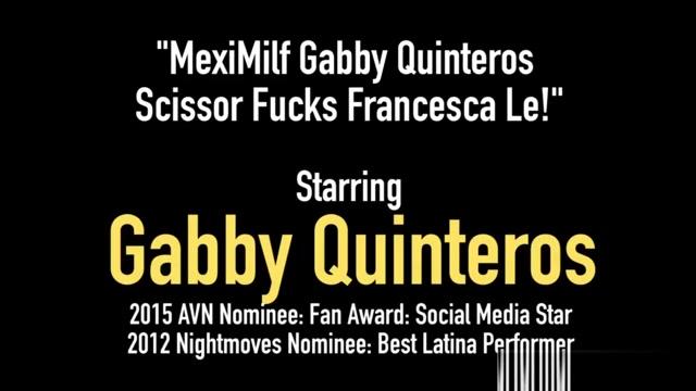 MexiMilf Gabby Quinteros Scissor Fucks Francesca Le! Big ass japanese upskirt