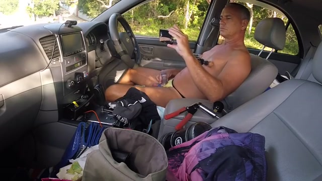 Pumping in the car Creamy anal sex gifs