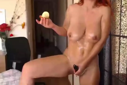 Busty redhead is having fun Sexy dress suits