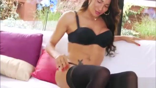 Gorgeous Latina TS Lorrane Capistrano goes solo masturbation daught tricked to eat moms pussy porn
