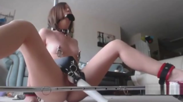 Gagged tied and vibed Tickle daddy