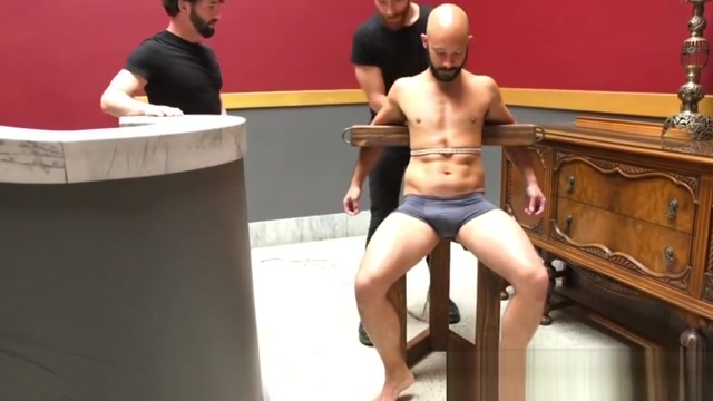 Restrained sub jerked until cumshot by dom eva notty pizza party part brazzers