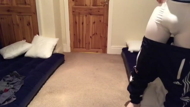 Soccer chav lad wanks off in front of room mate - role play fantasy Hot Girl Power