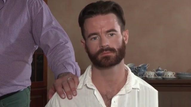 Gay daddies Brendan Patrick and Hugh Hunter fuck hard public sex in spain