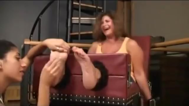Big feet tickled