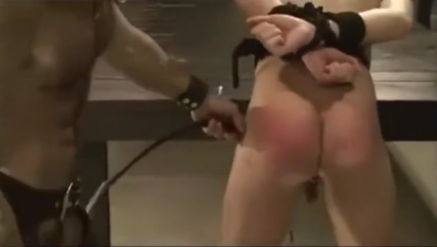 Leather Daddy beats then raw-fucks slave Emily deschanel big tits