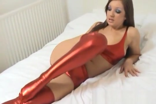 These shiny red PVC lingerie is totally skin tight barrett long torrent porn