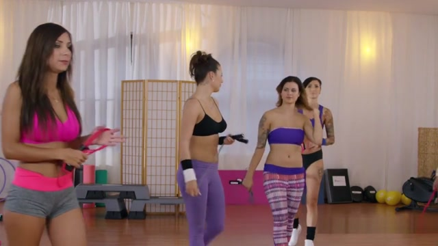 Three Hot Lesbians Vibrating At The Gym estella warren sex scenes